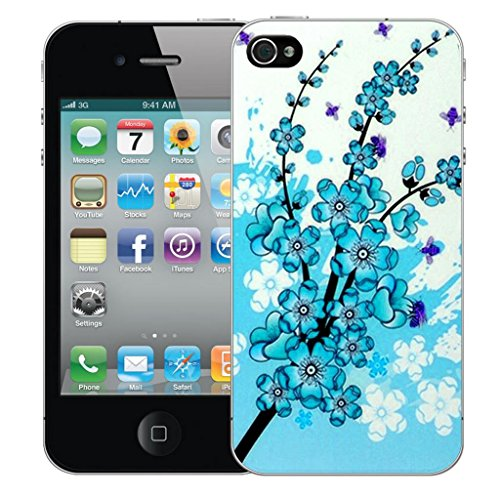 iphone 5 5s Dur Coque couverture Pare-chocs Case Cover - bleu floral bee conception par Mobile Case Mate