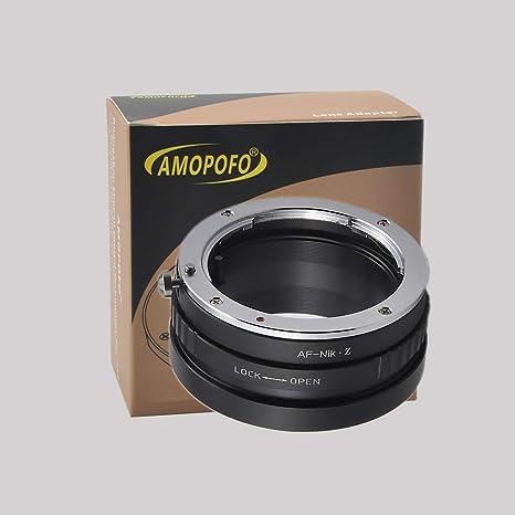 Amopofo AF-Nikon Adapter Sony Alpha A-Mount and Minolta AF Lens to Nikon F Mount SLR Camera