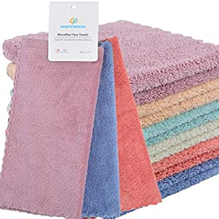 HOPESHINE Face Makeup Remover Cloths Reusable Microfiber Wash Cloth for Face Towels Facial Cleaning Wipes Soft for Sensitive Skin (6-Pack 12'' x 12'')
