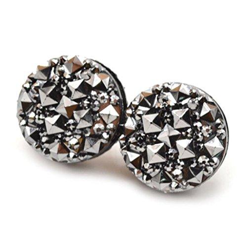 One Clasp (Yamalans 1 Pair Round Rhinestone Magnetic Brooch Clasp Muslim Head Scarf Pin (Black))