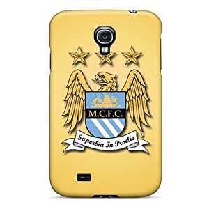 Durable Cell-phone Hard Covers For Samsung Galaxy S4 (eRS19082baol) Allow Personal Design High Resolution Manchester City Fc Pattern