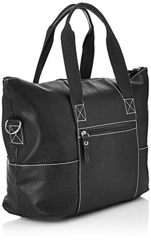 Paquetage Maxi Cabas Cuir Damen Shopper Schwarz (Noir (Noir 001))