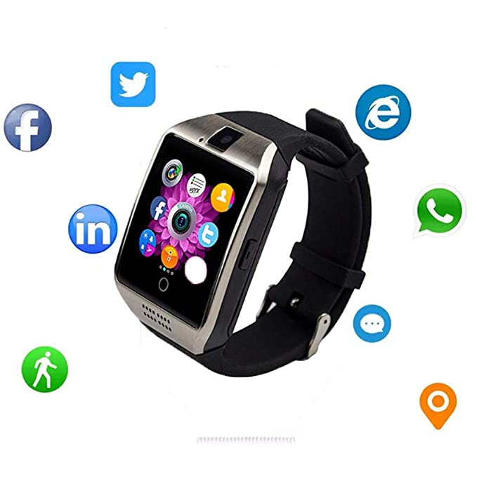 Smartwatch with Camera & Music Remote for Android - Smart Watch Fitness Tracker with Heart Rate & Blood Pressure & for Women Men (Sliver1)