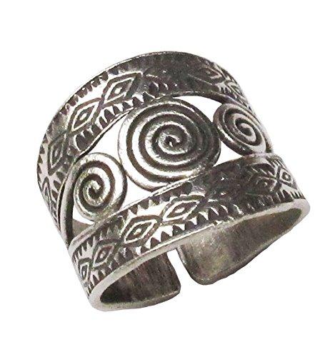 Thai Karean Silver Ring unique handmade hill tribe -