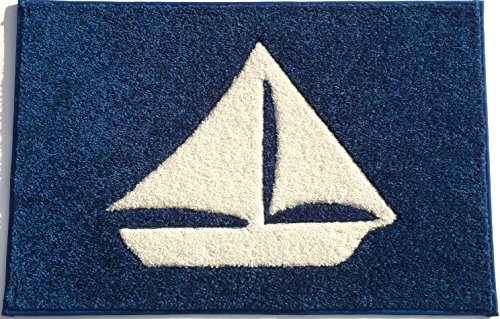 Embroidered Carpet - Sailboat Mat, 27