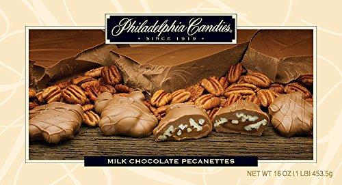 Vanilla Pecanettes (Caramel Pecan Clusters), Milk Chocolate 1 Pound (Caramel Cashew Candy)