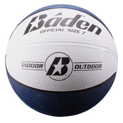 Baden - Balón de baloncesto de goma oficial, Azul marino/Blanco, 74.9 cm