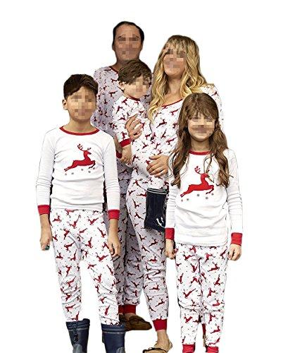 Family Matching Christmas Pajama Set Moose Print Sleepwear