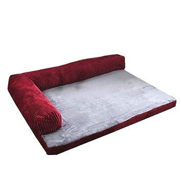 Cama de perro, Cama para Mascotas ortopédica Chaise Couch para Perros y Gatos, Disponible en Varios tamaños (Rojo) (Tamaño : 55×45×13cm): Amazon.es: Hogar