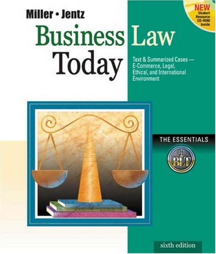 business law today Available in: paperback business law today is a credible law text with high interest and features exceptional visual appeal this is a book that.