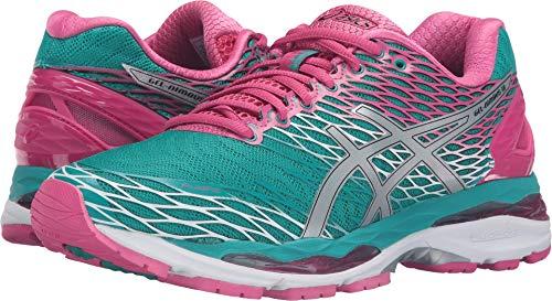 - ASICS Women's Gel-Nimbus 18 running Shoe, Lapis/Silver/Sport Pink, 6 M US