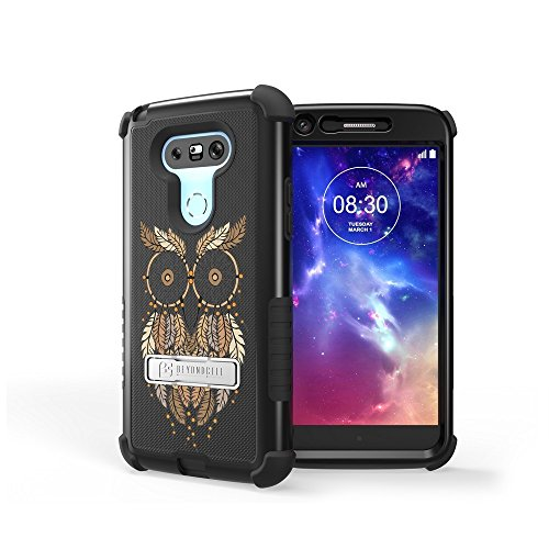 LG G5 Case, G5 Case,Beyond Cell Tri Shield [Dirtproof]High Impact Armor Hybrid Hard+Soft Rugged Case with built in kickstand-FREE Screen Protector-Owl Dream Catcher