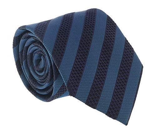 Ermenegildo Zegna Teal-Navy Geometric Stripe Tie for for sale  Delivered anywhere in USA