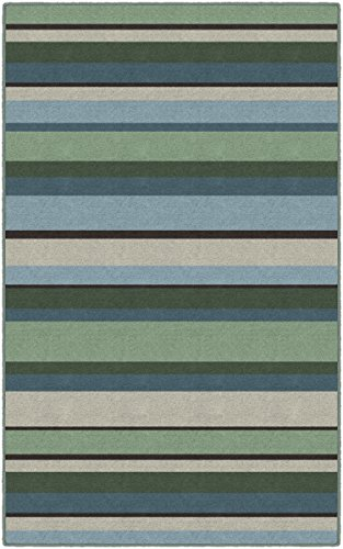 - Brumlow Mills EW10168-30x46 Blue and Green Muted Traditional Striped Area Rug, 2'6