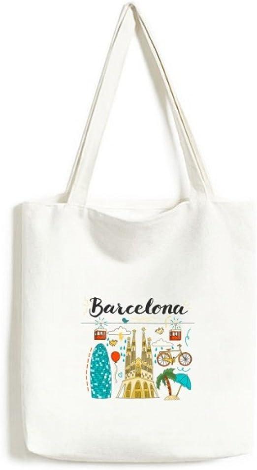 Barcelona España sagrada familia bolsa de lona medio bolsa de ...
