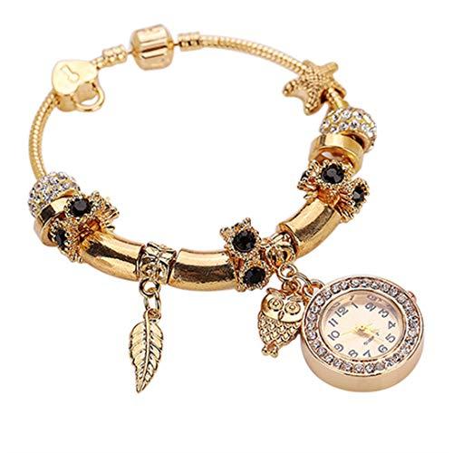 Women Rhinestone Owl Angel Ring Pendant Watches Ladies Charm Analog Quartz Bracelet Wrist Watch 4 Colors 5QQE Smt 89 -
