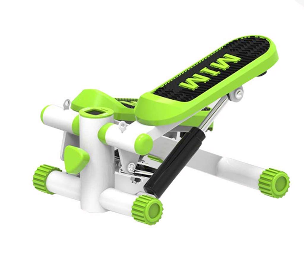 ZYY Pedal Steppers Trainer, Stepped Bandwidth Anti-Skid Pedal, Resistance Band and LCD Monitor (Color : Green)