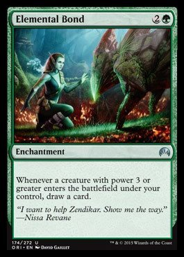 Single Creature Bond - Magic: the Gathering - Elemental Bond (174/272) - Origins