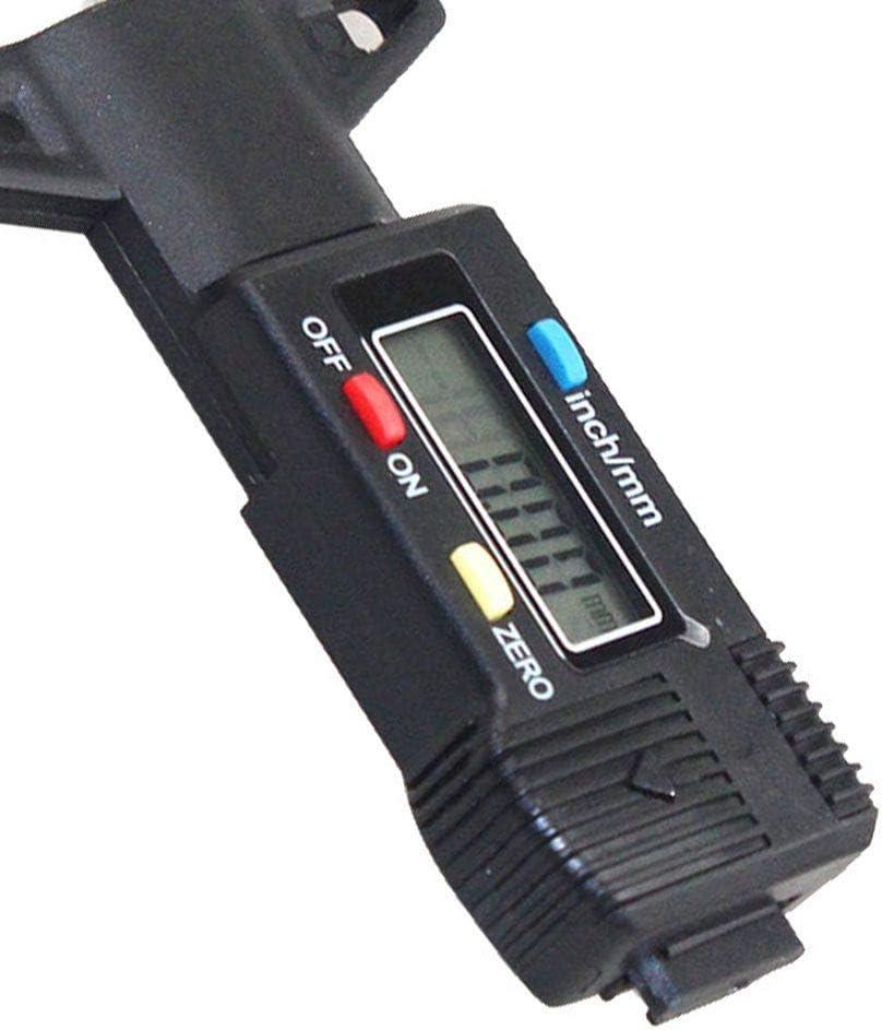 Ben-giMostra 0-25mm elettronico Digitale degli Pneumatici profondit/à del battistrada Misurazione di Utensili Black Pattern del Calibro di profondit/à Strumento Calibro Digitale