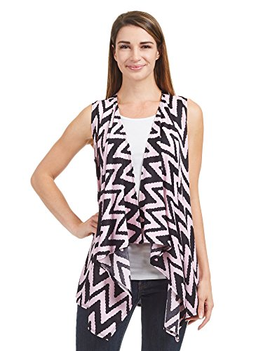 8fd80de20a9 Come Together California CTC Womens Lightweight Sleeveless Tie Dye Open  Front Drape Cardigan - Made in