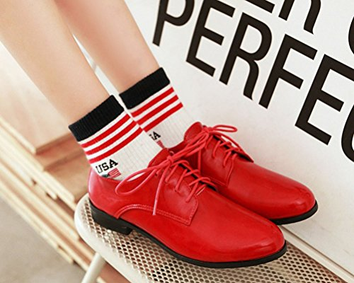 Lacets Chaussures HiTime Red à Femme anRwfRY