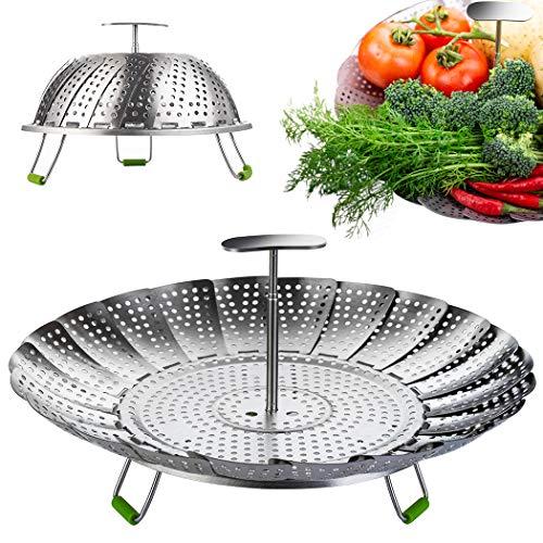 Stainless Steel Vegetable Steamer Basket/Insert for Pots Pans Crock Pots & more. 6