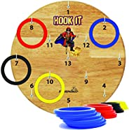 Funsparks Hook It Ring Toss Game for Adults & Kids - Hook and Ring Toss Indoor Outdoor Games for Family an