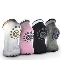 Best Non Slip Skid Yoga Pilates Socks with Grips Cotton...