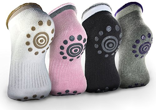 Best Non -Slip Skid Yoga Pilates Socks with Grips Cotton for Women