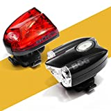 BoG Products USB Rechargeable LED Bike Light Set Headlight & taillight Combo for Bicycle or Scooter Free high Visibility reflectors Safety kit For Sale
