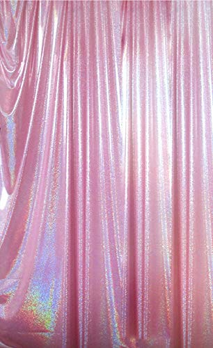 FUERMOR 5x7ft Pink Backdrop Birthday Wedding Photography Backdrops Curtain Makeup Videos Photo Background Props FUTJ001 (Pink Glitter Curtains)