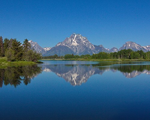 Photograph of the Grand Tetons mountains reflected in the Snake River in Wyoming - Fine Art Landscape Photography -