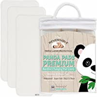 Changing Pad Liners BAMBOO REVERSIBLE 3-PACK - Softer, Thicker, No Stain 3 la...