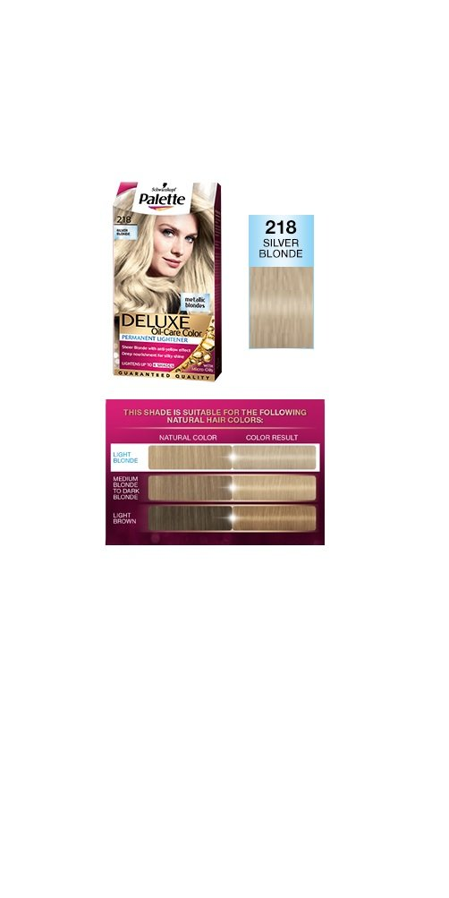 Amazon Palette Deluxe 218 Silver Blonde Permanent Hair Color