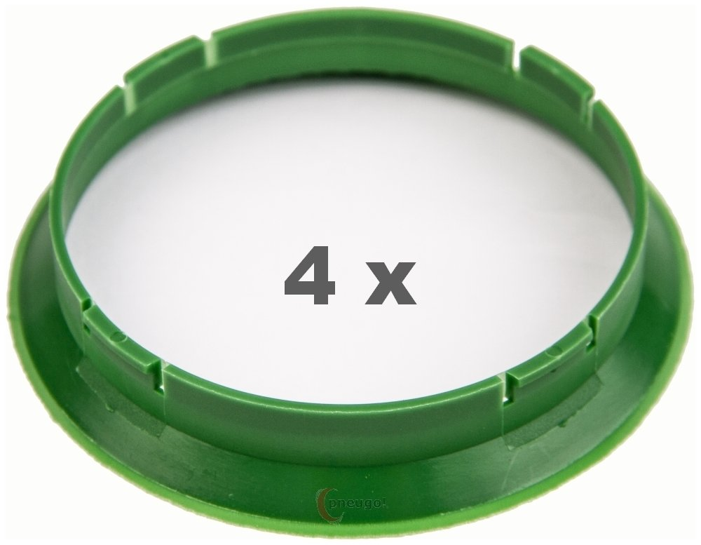 4 bagues de centrage 72,5 /à 70,5 vert fonc/é//fonc/é