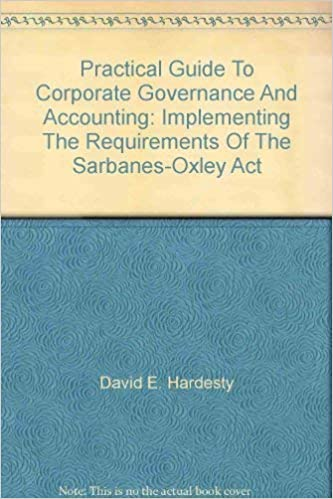 Practical Guide To Corporate Governance And Accounting Implementing