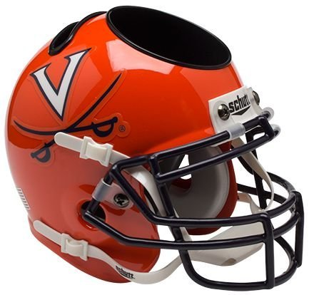 Schutt NCAA Virginia Cavaliers Helmet Desk Caddy, Orange/Navy by Schutt