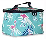 Ever-Moda-Travel-Makeup-Bag-Flamingo-Teal-Blue