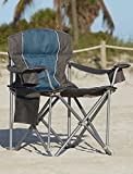 LivingXL 500-lb. Capacity Heavy-Duty Portable Chair (Blue)