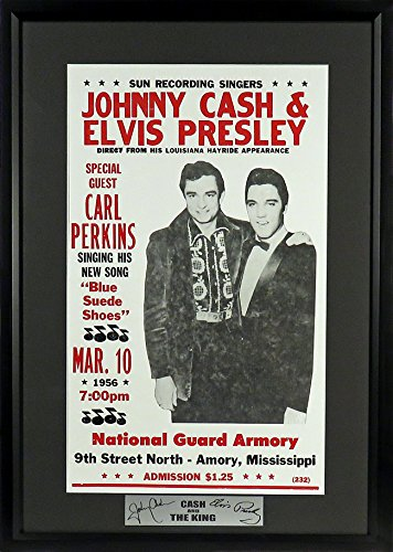 "Johnny Cash & Elvis Presley ""Cash & The King"" Concert Poster (SGA Signature Engraved Plate Series) Framed"