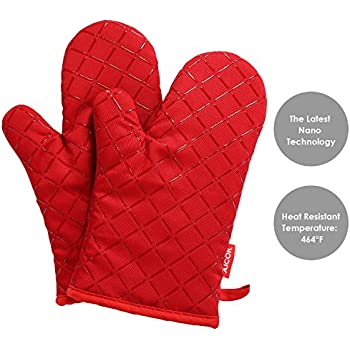 Attirant Aicok Oven Gloves Non Slip Kitchen Oven Mitts Heat Resistant Cooking Gloves  For Cooking,