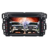 Car Stereo DVD Player for GMC Chevy Silverado 1500 2012 GMC Sierra 2011 2010 7 inch Quad Core Double Din in Dash Touchscreen FM/AM Radio Receiver Navigation Bluetooth Review