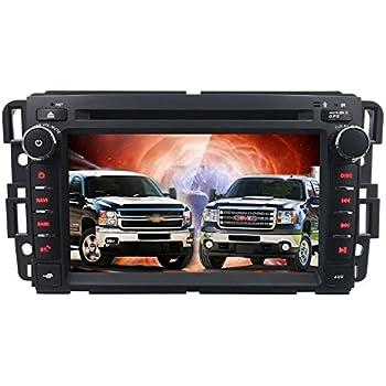hizpo car stereo dvd player for gmc chevy silverado 1500 2012 gmc sierra  2011 2010 7 inch quad core double din in dash touchscreen fm/am radio  receiver
