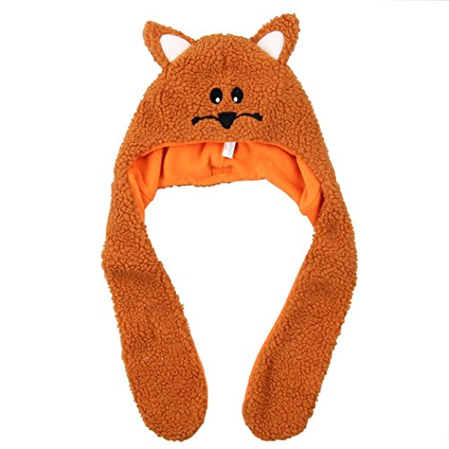 Grand Sierra Fuzzy & Fun Animal Face Toddler Hat (Orange Cat)