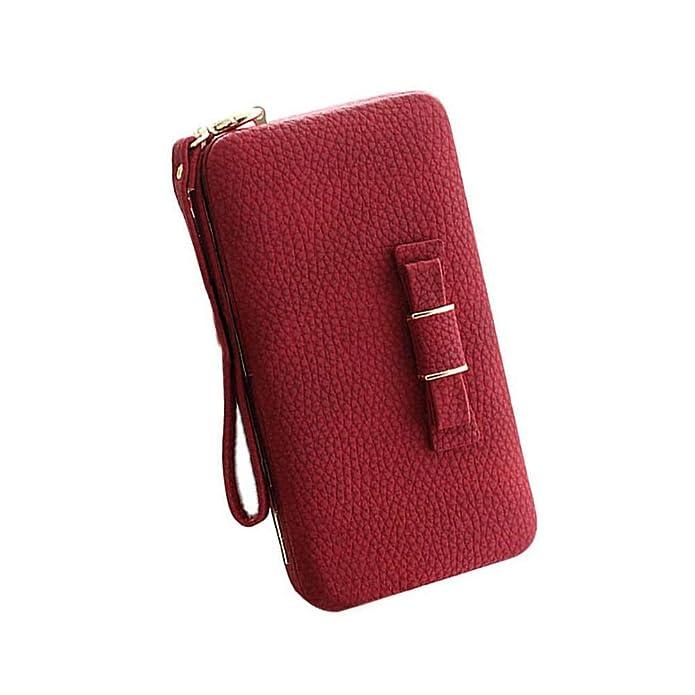 Amazon.com: Aeeque PU - Estuche para celular, billetera de ...