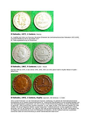 Kalenderblatt zum Jahr 1977: Francosco Moranzan (El Salvador wird mit einer Münze des Jahres 1977 und anderer Jahre vorgestellt) (German Edition)