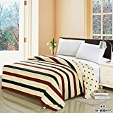 Modern Minimalist style Striped flowers/Floral 100% Cotton Quilt Cover-D 200x230cm(79x91inch)