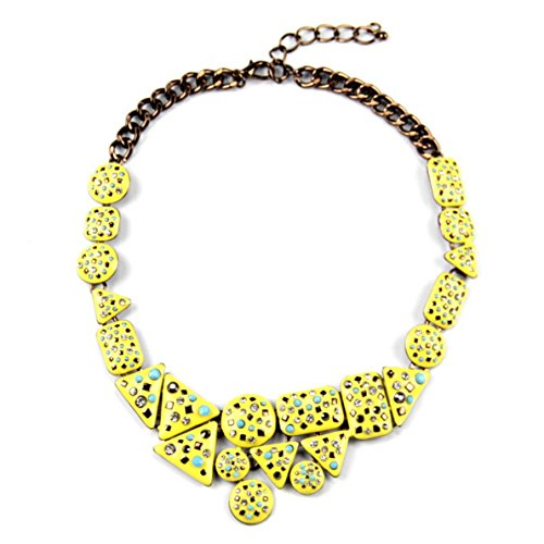 Mother Goose Costume Plus Size (PSNECK Charm Design Irregular Shape Rhinestone Chokers Collar Costume Jewelry Statement Necklaces)