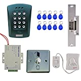 Jili Online EM Card Keypad Door Entry Access Control System Kits with 10 Keyfobs