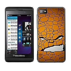 TopCaseStore / la caja del caucho duro de la cubierta de protección de la piel - Texture Face - Blackberry Z10
